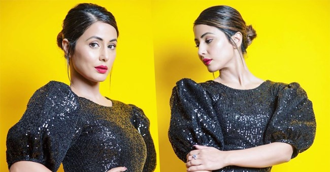 Hina Khan raises the temperature in black body hugging backless dress, see pics