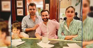 Kareena Kapoor Khan & Saif Ali Khan spend quality time with their son Taimur in Delhi, see pics