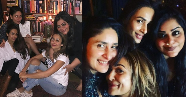 In Pictures: Kareena Kapoor Khan spends evening with her girlfriends Amrita and Malaika Arora