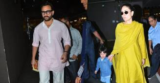 Kareena, Saif and Taimur turn up the style as they get papped at the airport, see pics