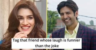 Kriti Sanon's hilarious reply on Kartik Aaryan's squeaky laughter 'meme' is winning the internet