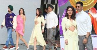 The cast of Good Newwz Kareena, Akshay, Diljit and Kiara papped ahead of trailer launch