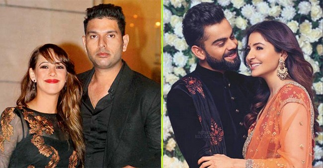 From Virat Anushka to Yuvraj Hazel, Sports stars that are married to Bollywood actresses