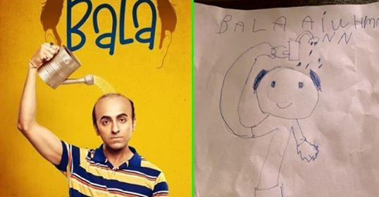 Ayushmann Khurrana's son draws his sketch from Bala, Tahira captions 'it's his recall value for dad'