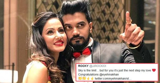 Hina Khan's beau Rocky Jaiswal congratulates Hina for her film, says 'Sky Is The Limit'
