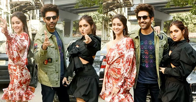 Pati Patni Aur Woh promotions in full swing as star cast of Kartik, Bhumi and Ananya get papped