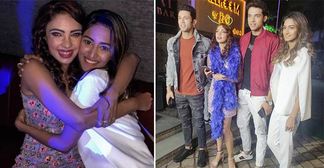 Parth Samthaan and Erica Fernandes attend the birthday bash of their KZK co-star Pooja Banerjee