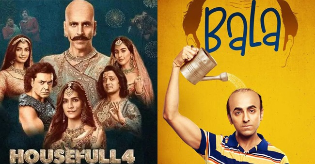 Box Office Collections: Bala collects 66 crores in 6 days, Housefull 4 crosses 200 crore mark