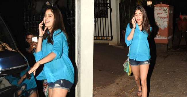 Photos: Janhvi Kapoor is all smiles as she got papped outside bro Arjun Kapoor's house