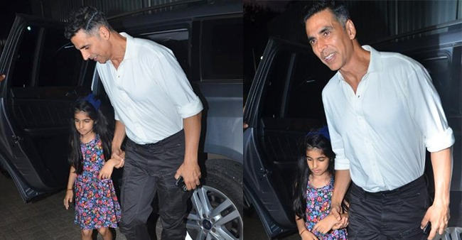 Akshay Kumar gets papped arriving for a movie night with his daughter Nitara, see pics