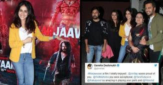 Genelia D'Souza lauds Riteish Deshmukh's film Marjaavaan, Karan Johar too rings in wishes