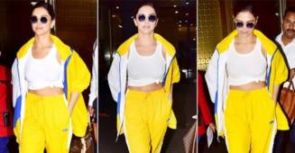 Deepika Padukone gets papped after returning to the bay two days ahead of her first wedding anniversary