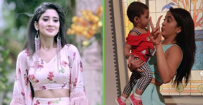 YRKK fame Shivangi Joshi looks cheerful as she meets 'Little Nyra' on sets; See adorable pic