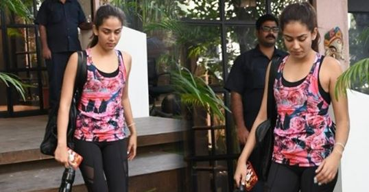 Mira Rajput looks blooming as she dons a floral printed athleisure for gym; See Pic