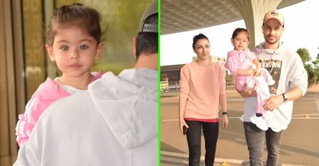 Kunal Kemmu and Soha's munchkin Inaaya loves to get attention and their airport pics says it all