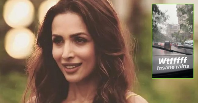 Watch: Malaika Arora takes to her Instagram and posts a boomerang about heavy rains in Mumbai