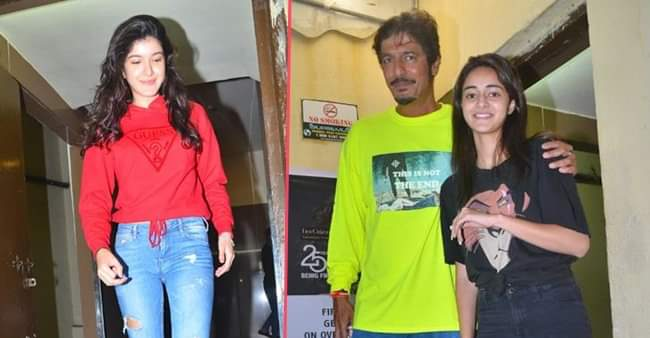 Ananya Panday on a movie night with family and Best friend Shanaya Kapoor