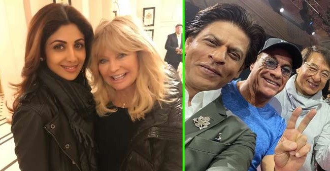 From SRK-Jackie Chan to Shilpa-Goldie Hawn; Pics of B-Town and Hollywood celebs we can't miss