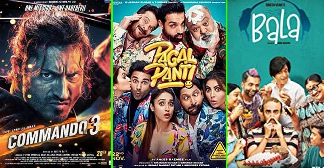 Box Office Earnings: Commando 3 stands strong at 18 Cr, Hotel Mumbai gets a slow open; Pagalpanti struggles