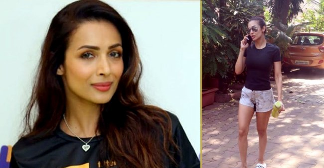 Fitness queen Malaika Arora looks enthusiastic on Monday as she visits gym in black tee; Pics