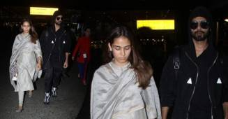 Pics: Shahid Kapoor and Mira Rajput slays Internet with their style as they get papped at airport
