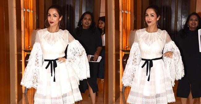 Malaika Arora shines like a bright moon as she steps out in a fairy-white dress; Pics