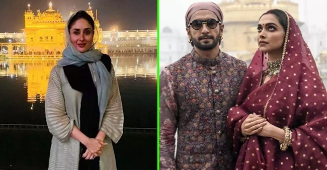 B-Town stars including Kareena and Ranveer that were papped at holy places