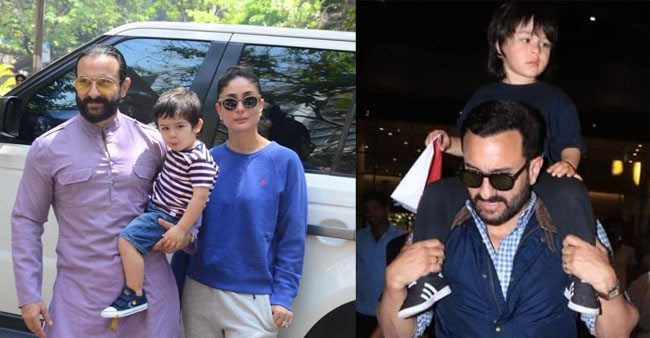 Taimur Ali Khan is a 'daddy's boy' and his pics in Saif Ali Khan's Arms says it all
