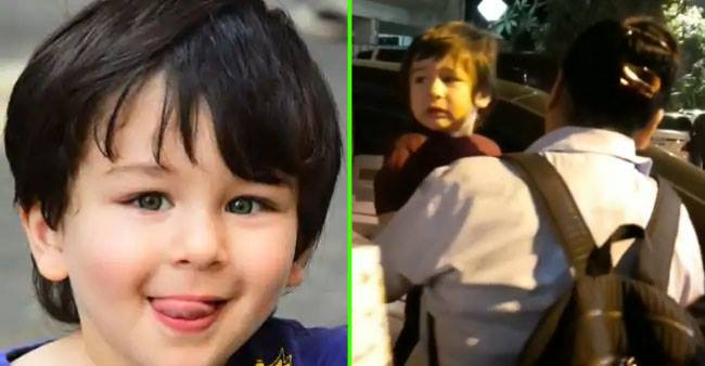 Taimur get 'emotional' and embrace nanny as he comes out from Christmas bash; Video