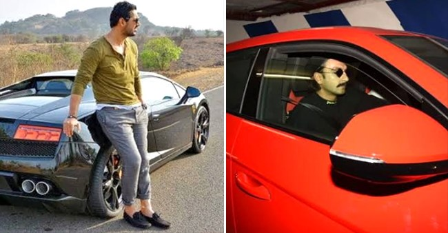 B-Town celebs including John Abraham and Ranveer Singh that owns a swanky Lamborghini