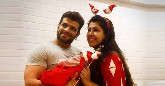 Karan Patel and wifey Ankita shares the first pic of baby girl Mehr; Check Out