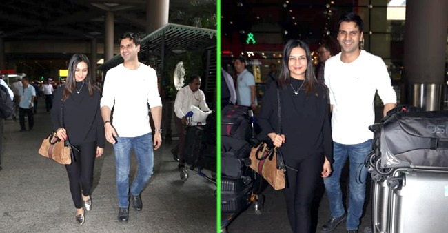 Divyanka and hubby Vivek are all happy faces as they return from London vacay; See Pics