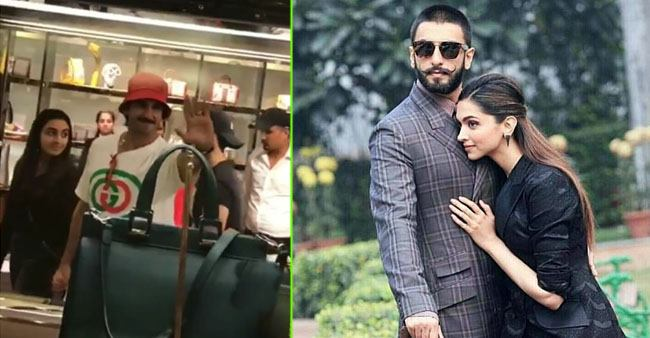 Ranveer spotted buying handbags for Deepika as she is busy with Chhapaak promotions; Watch