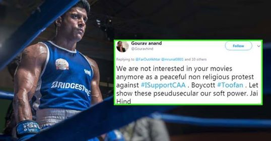 Twitterati boycotts Farhan Akhtar's 'Toofan' first look over his comment on CAA