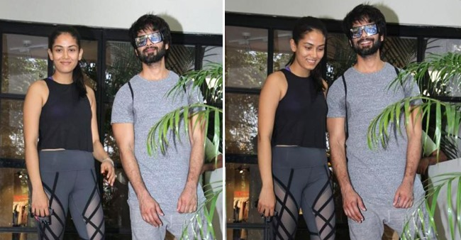 Shahid and Mira gives a 'sweat it out look' as they pose together at gym; See Pics