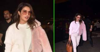 Priyanka Chopra looks ravishing as she arrives airport in her 'winter-special' attire; See Pics