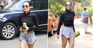 Malaika Arora is a true fitness diva and her latest gym pics in black crop jacket says it all