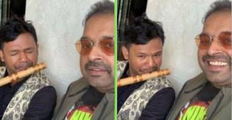 Shankar Mahadevan shares video of a man melodiously playing flute; Netizens calls it 'beautiful'