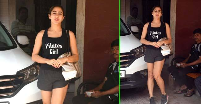 Sara Ali Khan looks cheerful as she steps out of gym in her stylish athleisure; Pics