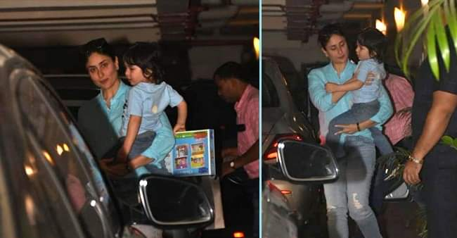 'Chhote Nawab' aka Taimur Ali Khan twins in blue with mommy Kareena Kapoor Khan