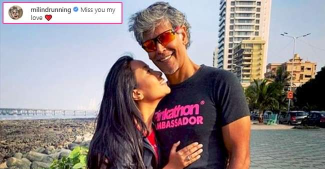 Ankita Konwar shares an adorable picture with a heartfelt caption for hubby Milind Soman