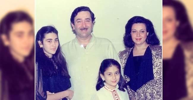 Throwback: Kareena and Karisma paints a pretty picture with parents Randhir and Babita
