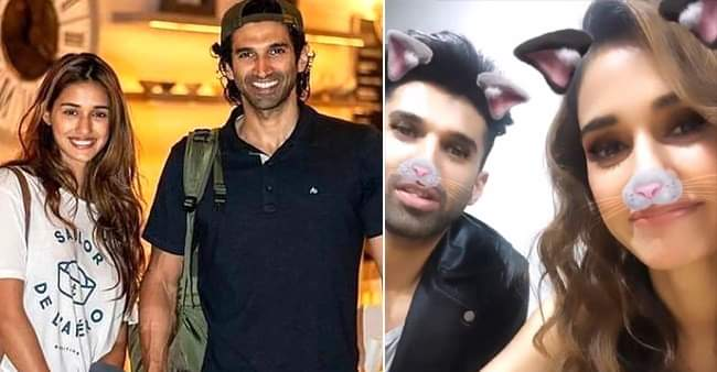Disha Patani and Aditya Roy Kapur looks adorable as they try Instagram's face filters