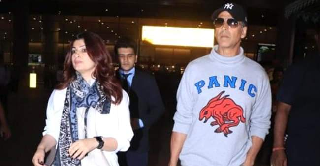 Akshay Kumar and Twinkle Khanna spotted post returning from their anniversary vacation