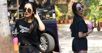 Malaika Arora turns head in an all-black dress as she heads for the gym