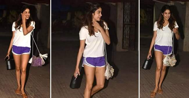 Janhvi Kapoor flaunts her million-dollar smile as she steps out from her gym