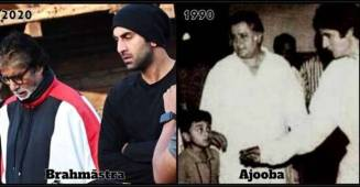 Big B Shares Pictures Of Himself & Ranbir Kapoor From 1990 & 2020; Captions Then & Now