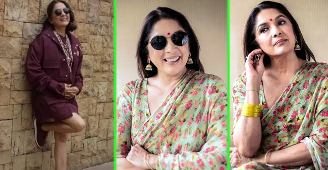 From Sarees To Mini Dresses, Neena Gupta Carries All Outfits With Grace