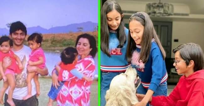Farah Khan Kunder shares a throwback picture to wish her triplets on 12th birthday