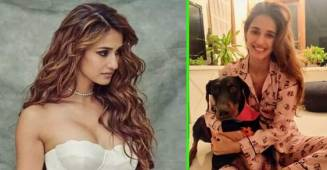 Disha Patani posts an adorable picture with her pet Goku on Instagram